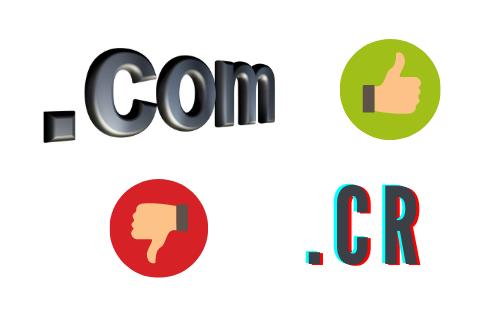 Diferencias entre .cr y .com
