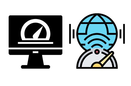 Velocidad de internet de los proveedores
